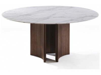 Alan 3 Round Dining Table – Marble Top