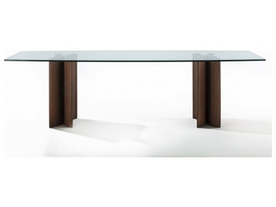 Alan Botte 4 Dining Table – Glass Top