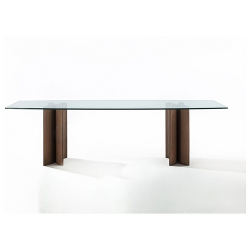 Alan Rettangolare 4 Dining Table – Glass Top 3