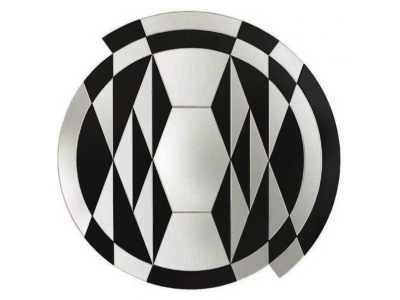 Black and White Beat Wall Mirror
