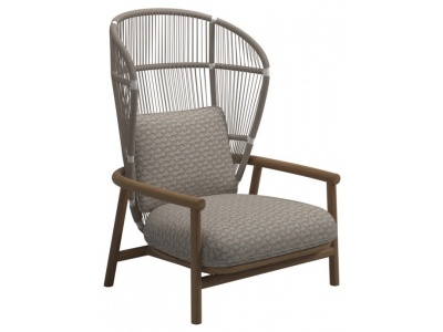 Fern Outdoor High Back Lounge Chair