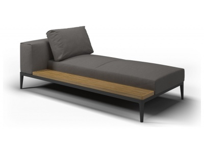 Grid Outdoor Chaise Lounger