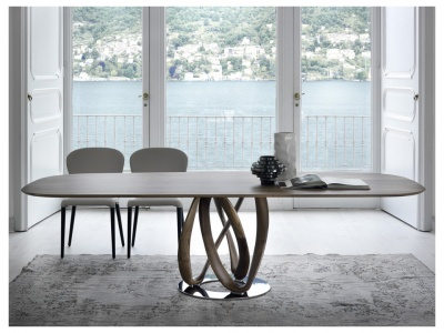Infinity Oval Wood Dining Table