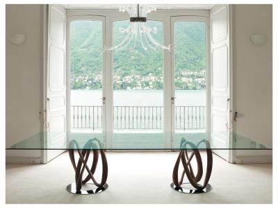 Infinity Rectangular Glass Dining Table