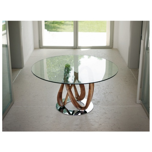 Infinity Round Glass Dining Table 6
