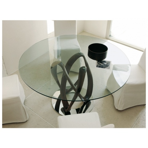 Infinity Round Glass Dining Table 7