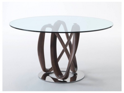 Infinity Round Glass Dining Table