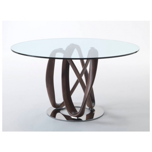 Infinity Round Glass Dining Table 3
