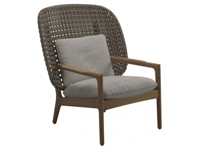 Kay High Back Outdoor Lounge Chair