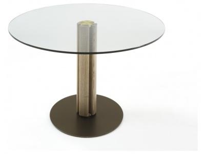 Quadrifoglio Round Crystal Dining Table