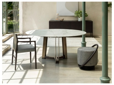 Shibumi Dining Table – Marble Top