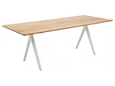 Split Teak Outdoor Dining Table