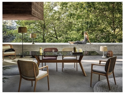 X-Frame Outdoor Dining Table