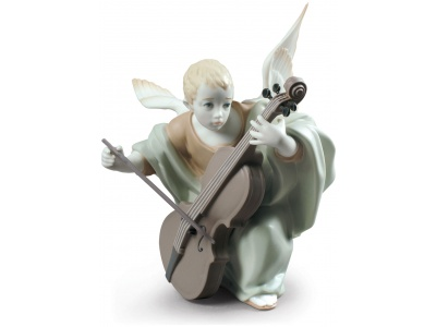 Heavenly Cellist Angel Figurine