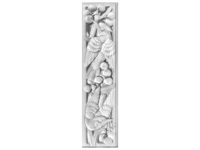 Merles et Raisins decorative panel