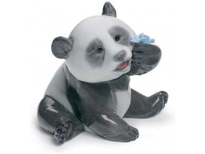 A Happy Panda Figurine