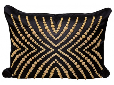 Coutard beaded large cushion