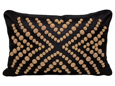 Coutard beaded small cushion