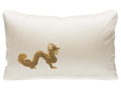 Dragon beaded cushion