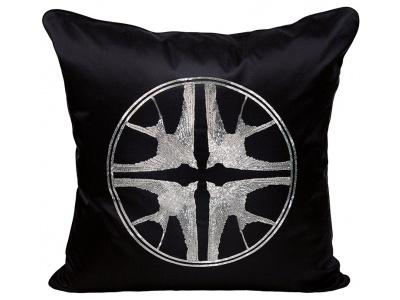 Hirondelles beaded large cushion