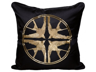 Hirondelles beaded medium cushion