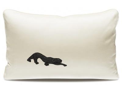 Panthère beaded small cushion