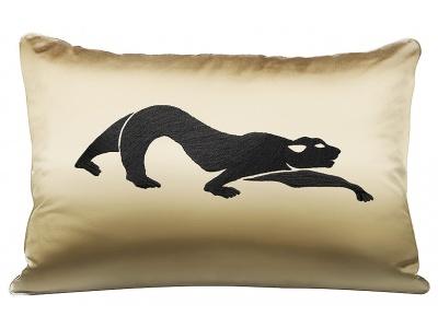 Panthère embroidered medium cushion