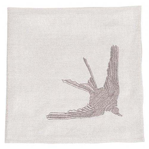 1 Hirondelle embroidered napkin 3