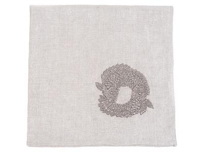 Koi Circle embroidered napkin