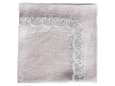 Scallop embroidered napkin