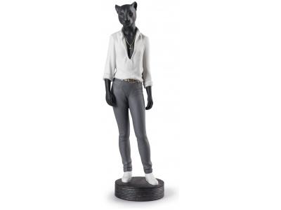 Panther Woman Figurine