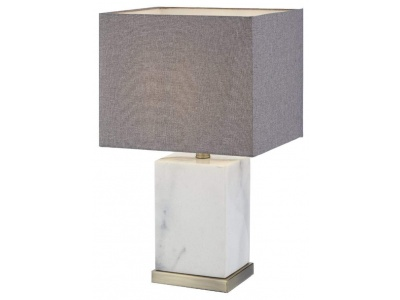 Abella Table Lamp in Marble and Antique Brass