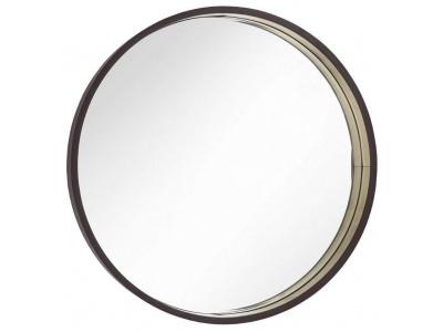 Alyn mirror Dia 100cm in Chocolate