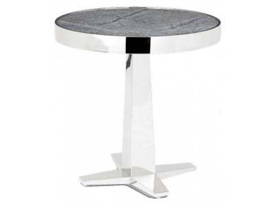 Aria Side Table in Stainless Steel