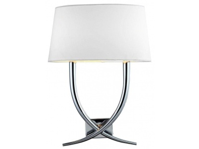 Arianna Nickel Twin Armed Curved Wall Lamp