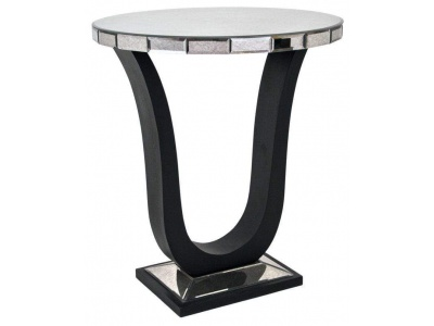 Berlin Mirror and Black Side Table