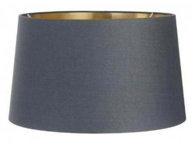 Charcoal Shade With Gold Lining 34cm