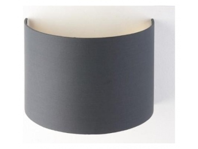 Charcoal Wall Shade With Gold Lining