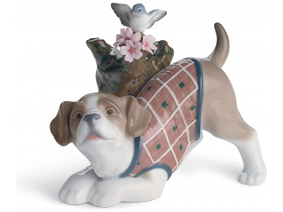 Blossoms for The Puppy Dog Figurine