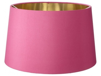 Faux Pink Silk 40cm Shade With Gold Lining