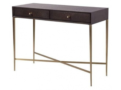 Finley Console Table in Chocolate Finish
